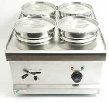 Commercial 4 Pot Wet Well Bain Marie Food Warmer Electric Stainless Steel