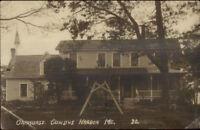 Cundys Harbor Harpswell ME Oakhurst c1910 Real Photo Postcard