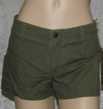 NWT Periscope low rise shorts green size 11 100% Cotton Casual Shorts Flat