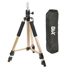 GEX Heavy Duty Mannequin Head Tripod Canvas Block Head Stand Gold Color AU