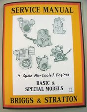BRIGGS STRATTON 6BR6 8BS 8BSFB ENGINE SERVICE SHOP OVERHAUL REPAIR MANUAL