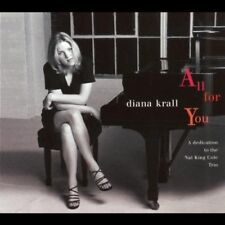 "DIANA KRALL - ALL FOR YOU ""A DEDICATION TO THE NAT KING COLE TRIO"" GOOD CON RARE"