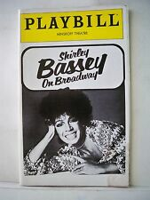 SHIRLEY BASSEY ON BROADWAY Playbill OPENING NIGHT Minskoff Theatre NYC 1979
