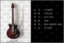 1/6 Scale Toy Handmade wooden Brown color Folk electric guitar model instrument