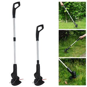 Electric Cordless Garden Grass Trimmer Weed Strimmer Cutter Tool Removable Set