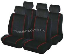 Jeep Grand Cherokee  - Luxury BLK/RED Car Seat Covers Protectors - Full Set