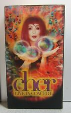Cher Live In Concert VHS Rare Hallogram Box **TESTED** FAST SHIPPER