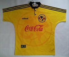 VINTAGE RARE MADE IN MEXICO ADIDAS CLUB AMERICA AUTHENTIC SOCCER JERSEY SIZE L