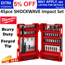 Milwaukee 45 Piece Shockwave Impact Set Driver Bits HEAVY DUTY Forged Tip Tradie