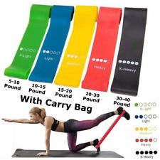 5x Exercise Resistance Loop Bands for Fitness Stretch Strength Physical Therapy