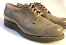 Vintage Mid Century Dr Scholl Walking Shoes Brown Leather Size 6 C Lace Up Wedge