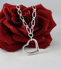 Sterling Silver 20g Open Heart  Necklace FERAL CAT RESCUE
