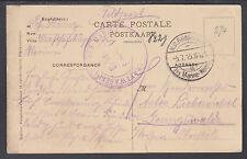 Germany, 1915 Kraftwagenparr Der Marine Stampless Feldpost PPC