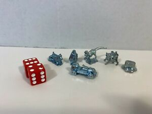 Monopoly Cheater's Edition Replacement Parts 6 Tokens Movers and Dice
