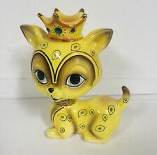 Vintage Josef Originals Big Eyed Cat Jeweled Crown