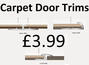 Carpet Metal Trims - Door Bars Strips - Threshold Plates - Gold or Silver
