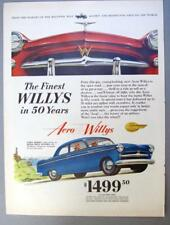 Original 1953 Willys AerO 2 door Sedan Ad THE FINEST WILLYS IN 50 YEARS