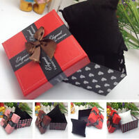 Bowknot Present Display Storage Gift Box Case for Watch Bracelet Bangle Jewelry