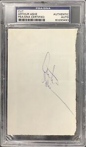Arthur Ashe Signed Cut Page Tennis US Open Wimbledon Davis Cup Autograph PSA/DNA