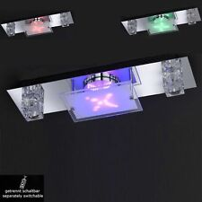 wofi LED Ceiling Light Lazio 2 Arms Chrome RC GLASS DICE FLAT GLASS RGB LED Lamp