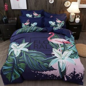 New flamingo 4pcs bedding set Duvet/quilt pillowcase cover queen king set
