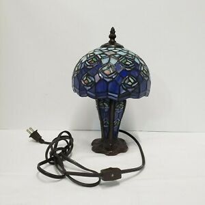 Ting Shen Glass Mosaic Lamp with Mosaic Shade Electric Desk Light