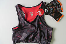 ACTIVE SPORT BUSTIER 36, Quick dry BH Bra m Mesh S, grau rot,FIT for FUN,176 182