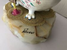Ron Lee clown, hand painted 24k gold. perfect condition, signed by artist 1987