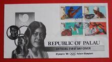 Clearance - Palau (B04a) 1988 Olympic '88 - Future Olympians FDC
