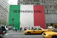 50 italienische Backlinks - 50 Italian Backlinks - 50 Italiani Backlinks