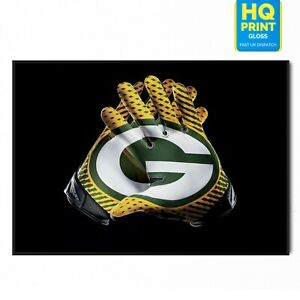 NFL Green Bay Packers Photo Football Team Poster   A5 A4 A3 A2 A1  