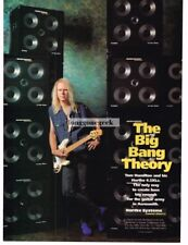 1995 Hartke Systems Bass Speakers Tom Hamilton Aerosmith Magazine Ad