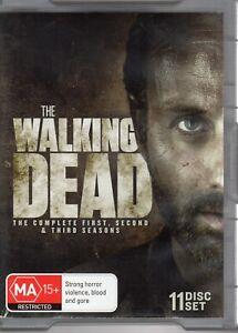 The Walking Dead : Season 1-3 (DVD, 2013, 11-Disc Set) BOX SET zzz 3