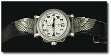 "New Aviator Unlimited ""Stratus""  Men's Pilot Chronograph Watch w/ Winged Accents"