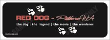 "Red Dog ""Paw Print Original"" Bumper Sticker"
