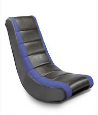 Blue Rocking Padded Chair Rocker Playing Gaming Kids Teen Game Girl Furniture