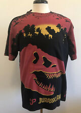 Vintage 90s Jurassic Park Movie T Shirt Dinosaur Size XL - Rare