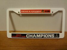 Chicago Black Hawks 2015 Championship License Plate Frame