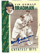 Don Bradman signed Weet Bix Greratest Hits card number 14 COA