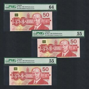 1988 CANADA 50 DOLLARS EHX 1400186-88 P-BC-59aA PMG 55/64> > >COW REPLACEMENT NR