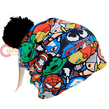 Marvel Kawaii Heroes All Over Printed Beanie Hulk Ironman Thor Vernon Hat