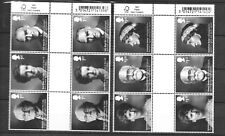 GREAT BRITAIN Sc 3479-84 NH GUTTER PAIRS of 2016 - Sc $34 - FAMOUS PEOPLE