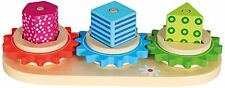 Bino Wooden Colourful Stacking Wheel Trio - New in Box