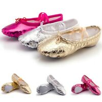Girls Women Ballet Dance Shoes Satin Slippers Gymnastics Split Sole Gift Shoes