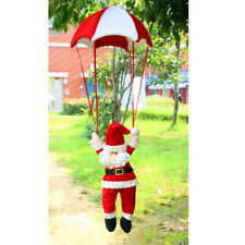 Santa Claus Father In Parachute Christmas Tree Hanging Ornament Decoration
