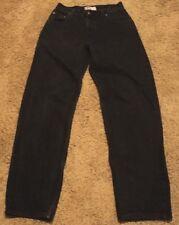 Men's VTG Old Navy DE-LUXE Black Denim Jeans 32x34 actual = 30x33 NICE!