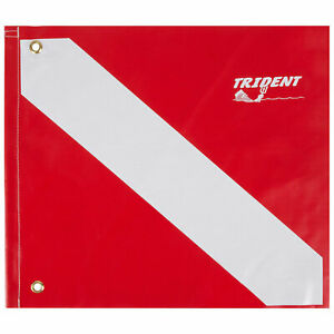 """Trident Dive Flag 14"""" X 16"""" Scuba Diving Safety/First Aid, Safety Gear (14"""" x16)"""