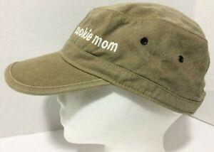 Authentic Pigment Cookie Mom Taupe Brown Cotton Cadet Cap Hat