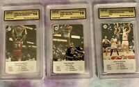 LOT OF 3 1988 FOURNIER ESTRELLAS BARKLEY MALONE STOCKTON ALL GEM MT 10 RARE LOT!