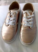 3a119b0eed VANS ROSE GOLD METALLIC UK 2 EUR 33 PUMPS LACE UP SKATE STYLE SHOES
